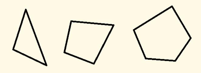 三角形、四角形、五角形を示した図