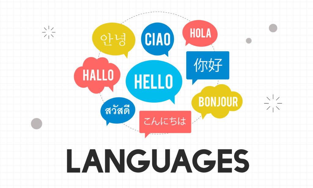 多言語の画像