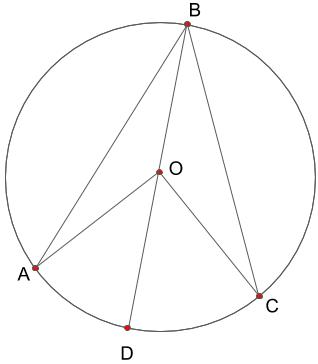円周角の定理の証明の図