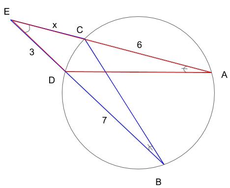 相似な図形を示した図